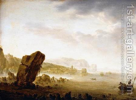Mediterranean Coastal Scene 1641-43 by Herman Saftleven - Reproduction Oil Painting