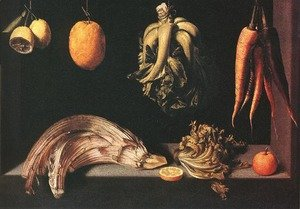 Famous paintings of Vegetables: Still-life c. 1600