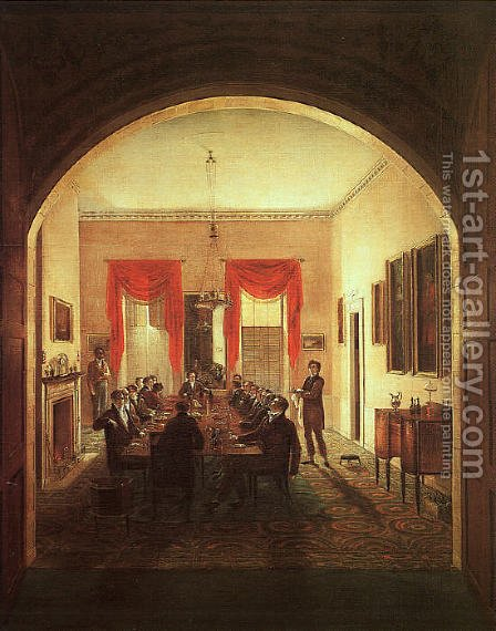 The Dinner Party 1821 by Henry Sargent - Reproduction Oil Painting