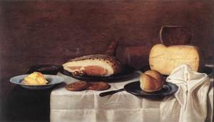 Famous paintings of Desserts: Still-Life c. 1640