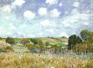Reproduction oil paintings - Alfred Sisley - Meadow 1875