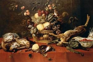Famous paintings of Squirrels: Still-Life 1635-39