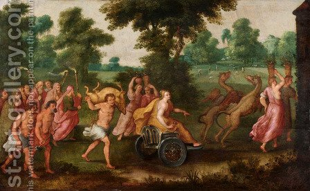 Allegory of the Month of August by Adriaan van Stalbemt - Reproduction Oil Painting