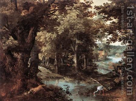 Landscape with Fables 1620 by Adriaan van Stalbemt - Reproduction Oil Painting