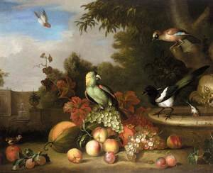 Famous paintings of Apples: Still-Life of Fruit and Birds