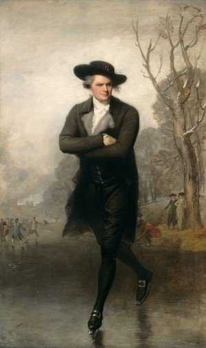 Famous paintings of Men: The Skater (Portrait of William Grant)  1782