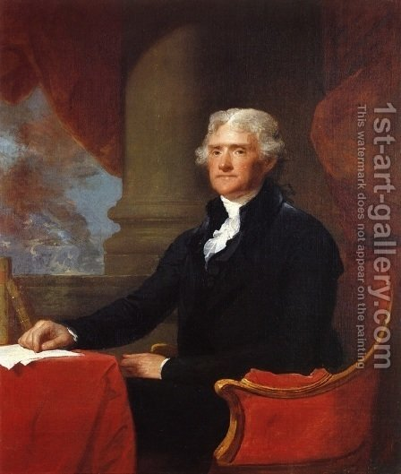 Gilbert Stuart: Thomas Jefferson 1805-07 - reproduction oil painting