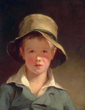 Famous paintings of Portraits: The Torn Hat 1820