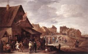 Famous paintings of Villages: Village Feast