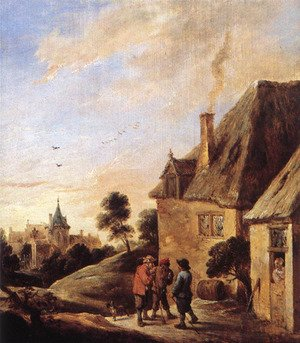 Famous paintings of Villages: Village Scene (2)