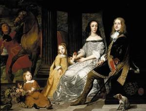 Famous paintings of Couples: Portrait of Philips van de Werve and His Wife c. 1661