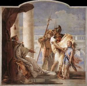 Reproduction oil paintings - Giovanni Battista Tiepolo - Aeneas Introducing Cupid Dressed as Ascanius to Dido 1757