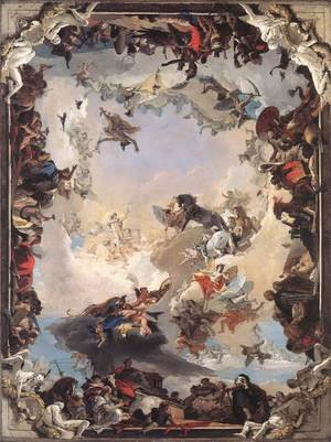 Reproduction oil paintings - Giovanni Battista Tiepolo - Allegory of the Planets and Continents 1752