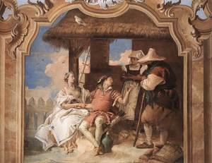 Reproduction oil paintings - Giovanni Battista Tiepolo - Angelica and Medoro with the Shepherds 1757