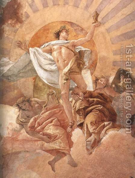 Apollo and the Continents (detail-1) 1752-53 by Giovanni Battista Tiepolo - Reproduction Oil Painting