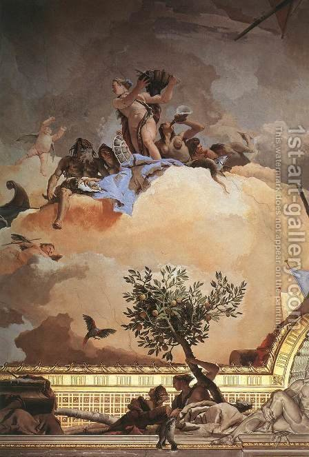 Glory of Spain (detail-3) 1762-66 by Giovanni Battista Tiepolo - Reproduction Oil Painting