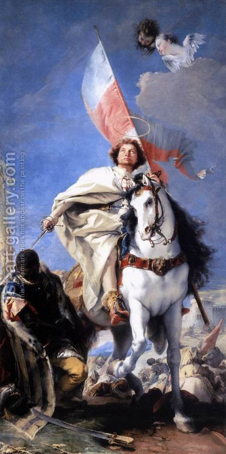 St James the Greater Conquering the Moors 1749-50 by Giovanni Battista Tiepolo - Reproduction Oil Painting