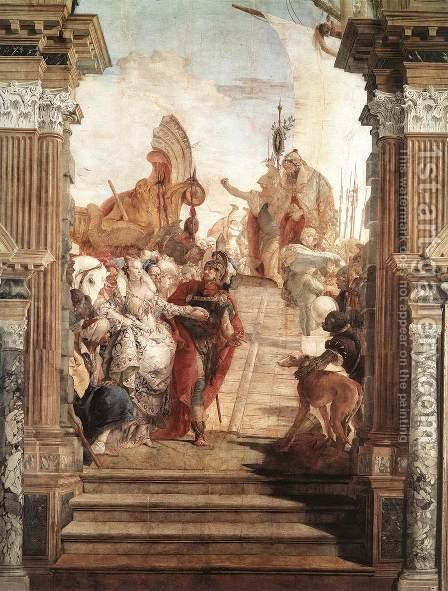 The Meeting of Anthony and Cleopatra 1746-47 by Giovanni Battista Tiepolo - Reproduction Oil Painting