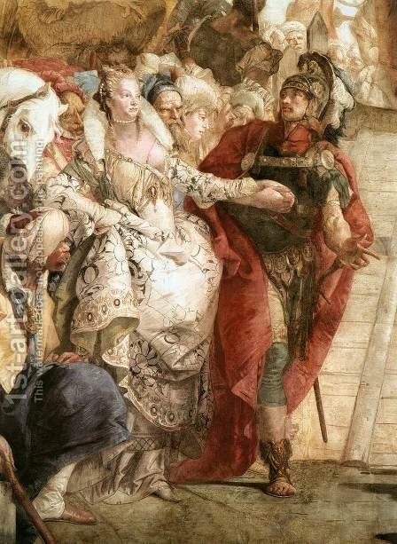 The Meeting of Anthony and Cleopatra (detail) 1746-47 by Giovanni Battista Tiepolo - Reproduction Oil Painting