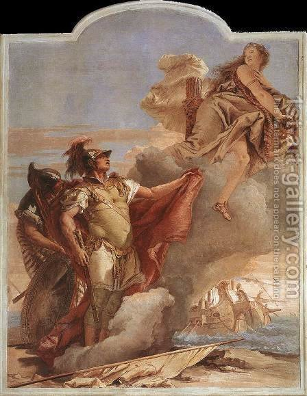 Venus Appearing to Aeneas on the Shores of Carthage 1757 by Giovanni Battista Tiepolo - Reproduction Oil Painting