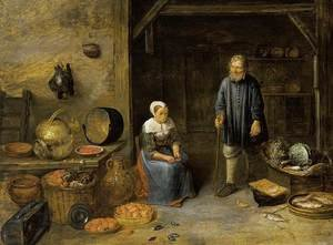 Famous paintings of Vegetables: A Barn Interior