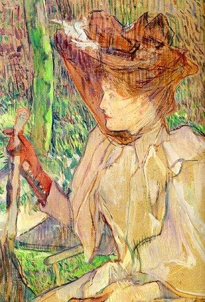 Reproduction oil paintings - Toulouse-Lautrec - Portrait of Honorine Platzer (Woman with Gloves) 1891