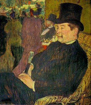Reproduction oil paintings - Toulouse-Lautrec - Portrait of Monsieur Delaporte at the Jardin de Paris 1893