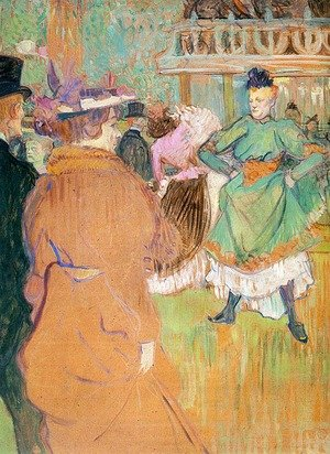 Reproduction oil paintings - Toulouse-Lautrec - The Beginning of the Quadrille at the Moulin Rouge  1892