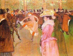 Reproduction oil paintings - Toulouse-Lautrec - Training of the New Girls by Valentin at the Moulin Rouge 1889-90
