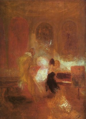 Romanticism painting reproductions: Music Party 1835
