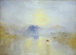 Romanticism painting reproductions: Norham Castle, Sunrise 1845