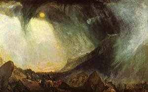 Romanticism painting reproductions: Snow Storm, Hannibal and his Army Crossing the Alps 1812