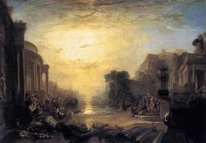 Romanticism painting reproductions: The Decline of the Carthaginian Empire 1817
