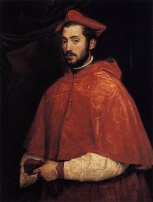 Famous paintings of Men: Cardinal Alessandro Farnese 1545-46
