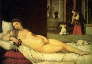 Famous paintings of Domestic Animals: The Venus of Urbino 1538