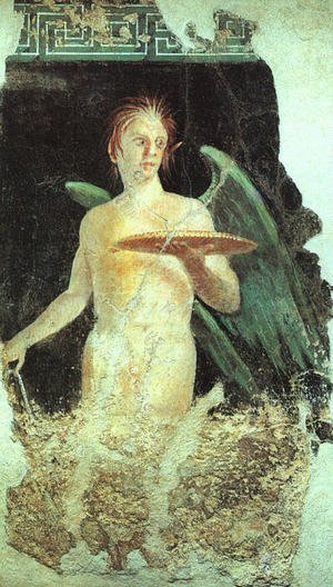 Winged Spirit (from the villa of Publius Fannius Sinistor at Pompeii)