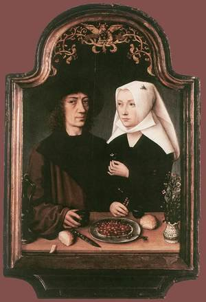 Famous paintings of Couples: Portrait of the Artist and his Wife 1496