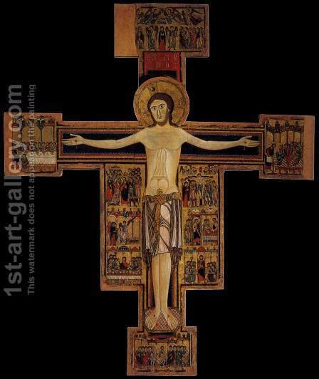 Crucifix (Cross No. 15) 1190s by Italian Unknown Masters - Reproduction Oil Painting
