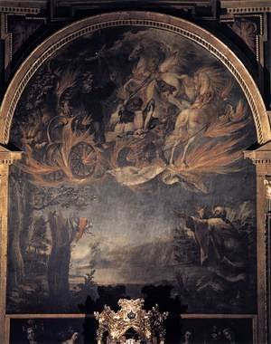 Juan de Valdes Leal reproductions - Ascension of Elijah c. 1658