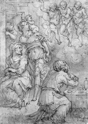 Giorgio Vasari reproductions - Abraham and the Three Angels