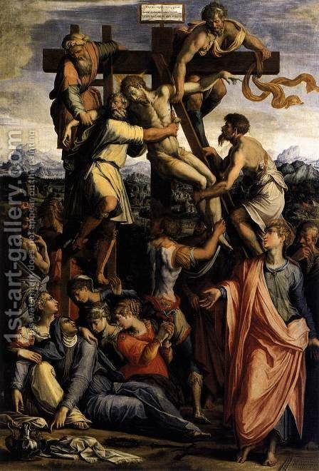 Giorgio Vasari: Deposition from the Cross c. 1540 - reproduction oil painting