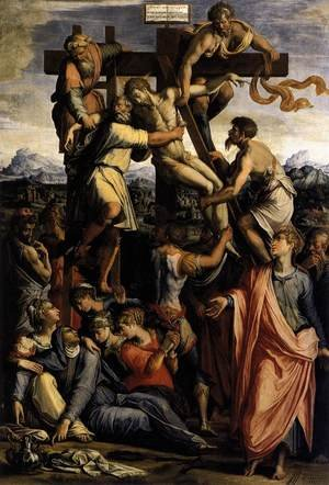 Reproduction oil paintings - Giorgio Vasari - Deposition from the Cross c. 1540