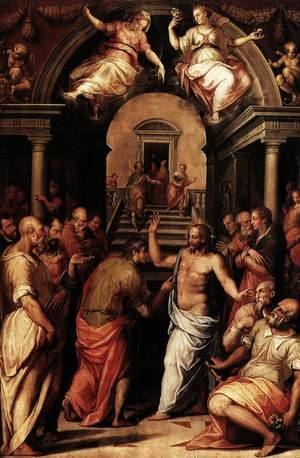 Reproduction oil paintings - Giorgio Vasari - Incredulity of St Thomas 1572
