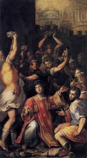 Reproduction oil paintings - Giorgio Vasari - Martyrdom of St Stephen 1560s