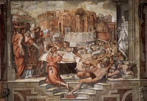 Reproduction oil paintings - Giorgio Vasari - Paul III Farnese Directing the Continuance of St Peter's 1544