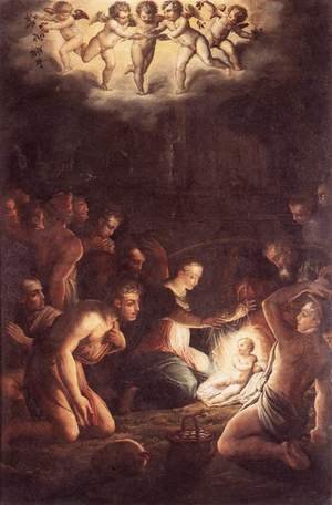 Reproduction oil paintings - Giorgio Vasari - The Nativity c. 1546