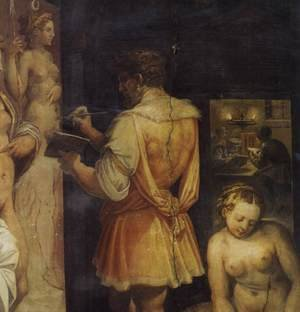 Reproduction oil paintings - Giorgio Vasari - The Studio of the Painter (detail)