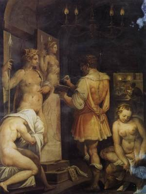 Reproduction oil paintings - Giorgio Vasari - The Studio of the Painter