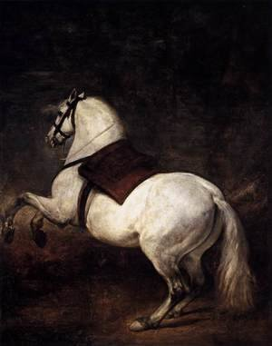 Famous paintings of Horses & Horse Riding: A White Horse 1634-35