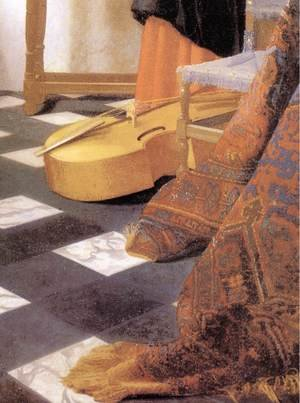 Reproduction oil paintings - Jan Vermeer Van Delft - A Lady at the Virginals with a Gentleman (detail-3) 1662-65